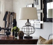 TUDA38X58cm Free Shipping American Country Style Table Lamp Fashion Creative Iron Art Cloth Lampshade E27