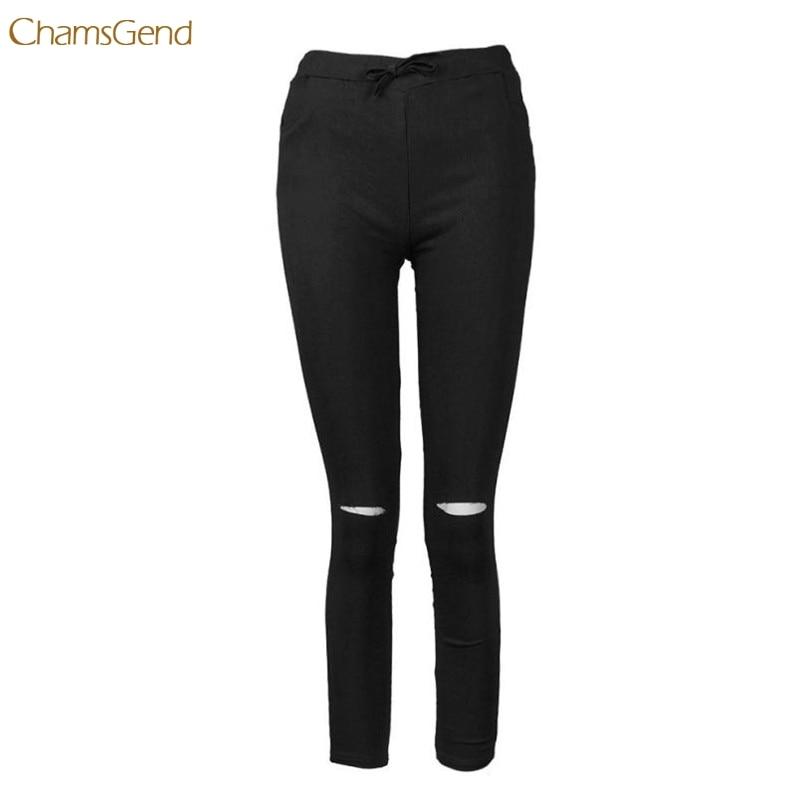 2017 A # hot 6 farbe loch jeans Frauen XXXL Baumwollmischung Elastische Hohe Taillenhose LadiesVintage Bleistift Dünne Dünne jeans