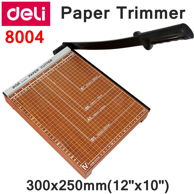[ReadStar]Deli 8004 Manual paper trimmer size  300x250mm(12x10) large paper trimmer with scaler Paper cutter visad scissors portable paper trimmer paper cutting machine manual paper cutter for a4 photo with side ruler