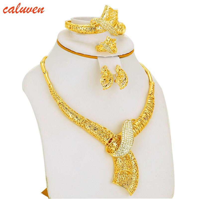 Biały Kolor Kamień Etiopski / Erytrea / Habesha Chokers Żółty Kolor Zestawy Biżuteria Na Kolczyk / Naszyjnik Kobiety Prezent Kolor Złoty