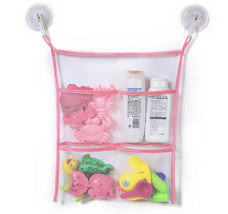 Dziecko kąpiel torba do zabawy organizator netto kosze ssące dzieci dziecko łazienka siatka torba z przyssawkami