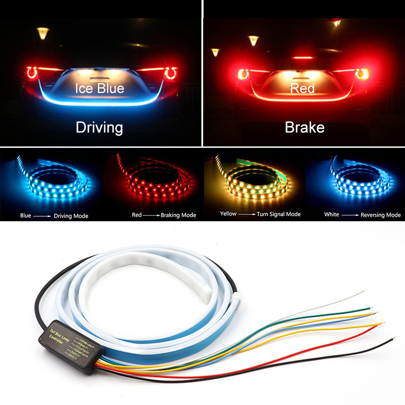 Additional Stop Light Dynamic Streamer Floating LED Car Tail Trunk Tailgate Strip Dynamic Streamer Turn Signal Lamp