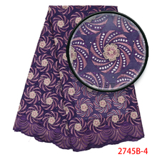 Nigeria lace fabric high quality lace swiss cotton lace african cotton lace for women dresses KS2745B-4