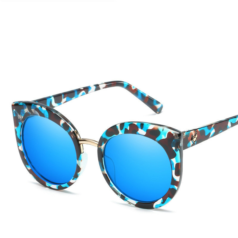 2018 New Fashion Sale Retro Cat Eye Round Luxury Women-Sunglasses Brand Camo Shadow Vintage Female Cateye Sun Glasses Oculos HD