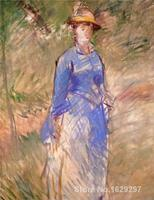 Young woman in the garden Edouard Manet painting for bedroom decoration High quality