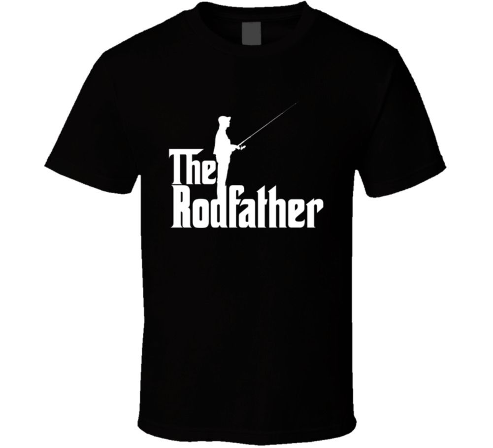 Rodfather Funny Godfather Fishinger Gift T ShirtFashion Summer Top Tee