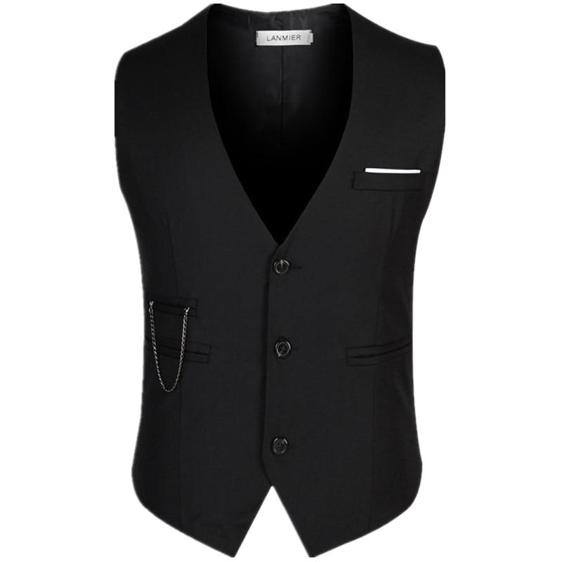 New Men Suit Vest Slim Dress Vests Good quality Men's Fitted Leisure Waistcoat Casual Business Jacket Tops