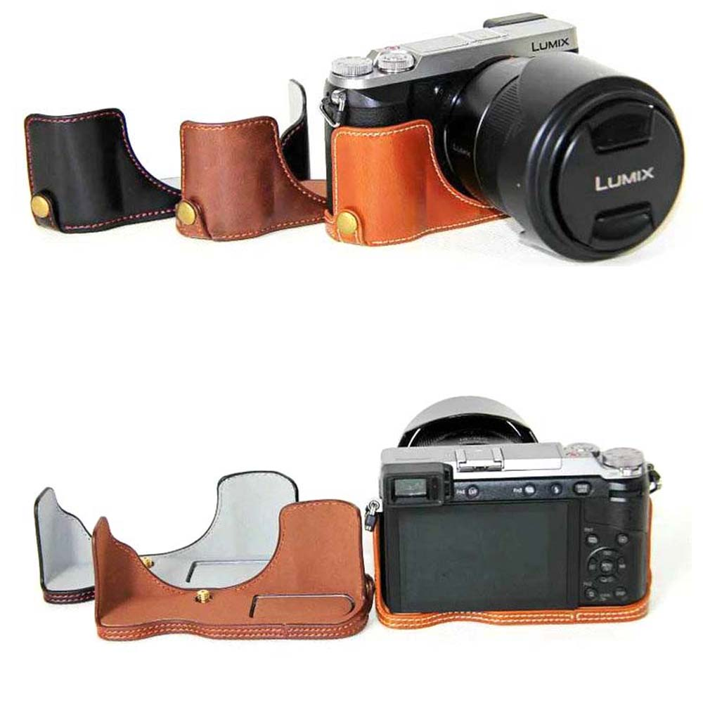 camera bag half cover bottom case pu leather case for for
