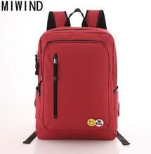 Miwind Для женщин Рюкзак молодежный подростковой моды Рюкзаки для подростков Обувь для мальчиков школьный рюкзак мужской сзади Mochila T1036