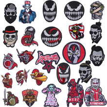 Pulaqi Spartak Spartaco Patch Biker Backpack Patches Embroidery Stickers Garment Accessories Sew On Iron-on Venom H