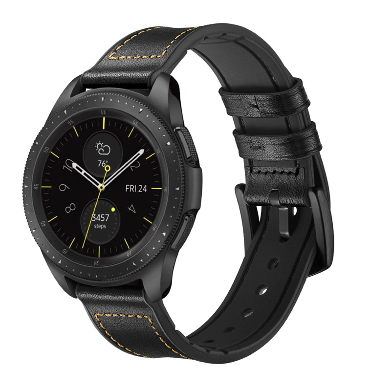 Vintage Leather Strap For Samsung Galaxy Watch 46mm Gear S3 Band 22mm 20mm Silicone Strap For Galaxy Watch 42mm Active 2 40mm 44