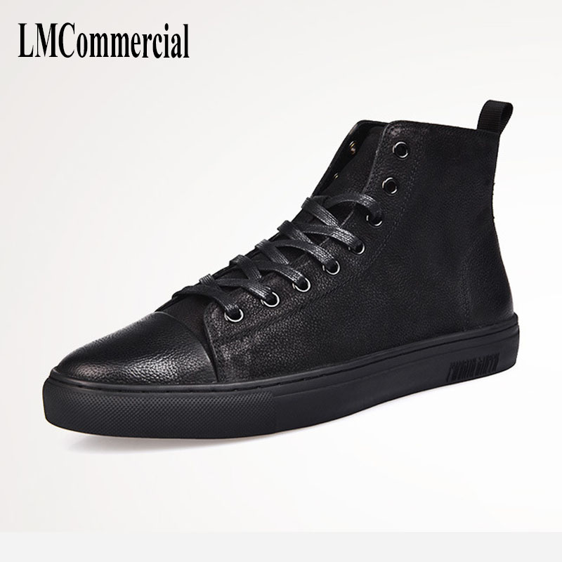 men's shoes for Martin winter boots short black leather strap flat high British retro cowhide  breathable sneake boots men martin boots men s high boots korean shoes autumn winter british retro men shoes front zipper leather shoes breathable