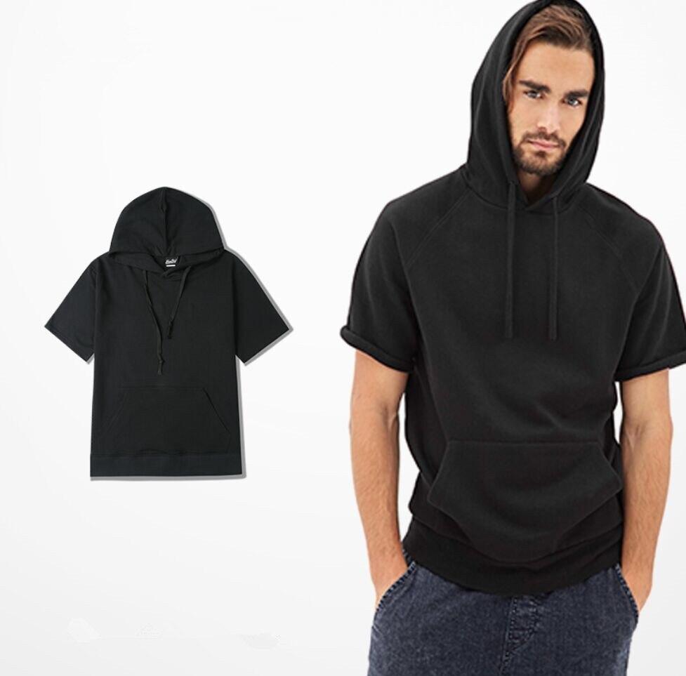 Black t shirt hoodie - 2017 Kanye West Hip Hop Hoody Tee Shirt Mens Oversized Streetwear Vetement Homme Men Skateboard T