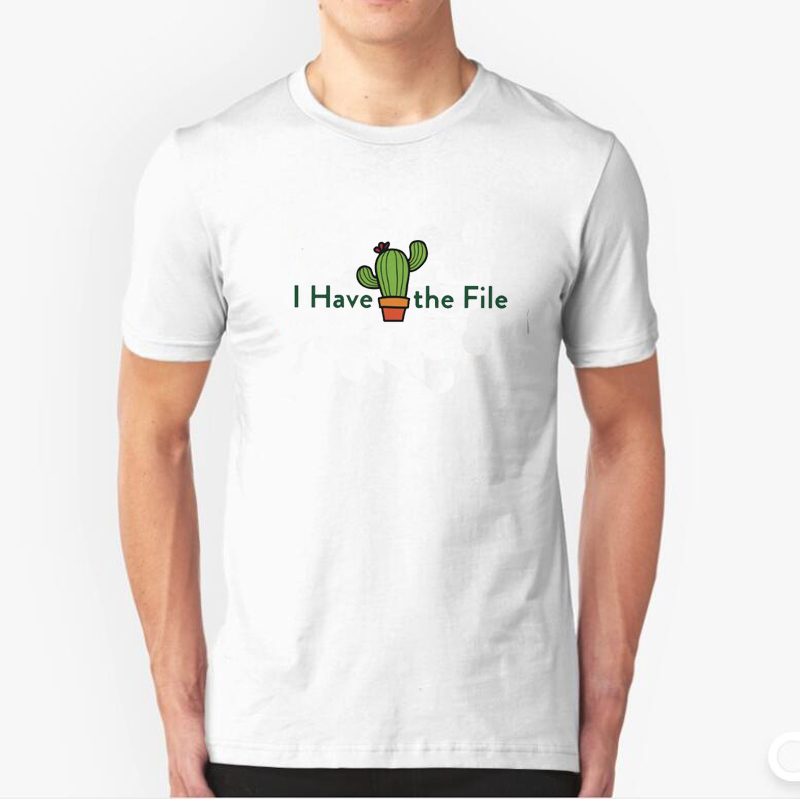 The Good Place Tv T-Shirt Men Funny Printed I Have The File Cactus T Shirt The Bad Place Good Janet Tee Shirt Everything Is Fine image