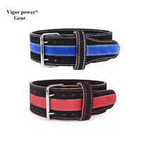 Vigor Power Gear top qulity Weight Lifting Leather Belt for Weightlifting Waist Support Body Building Gym Belt