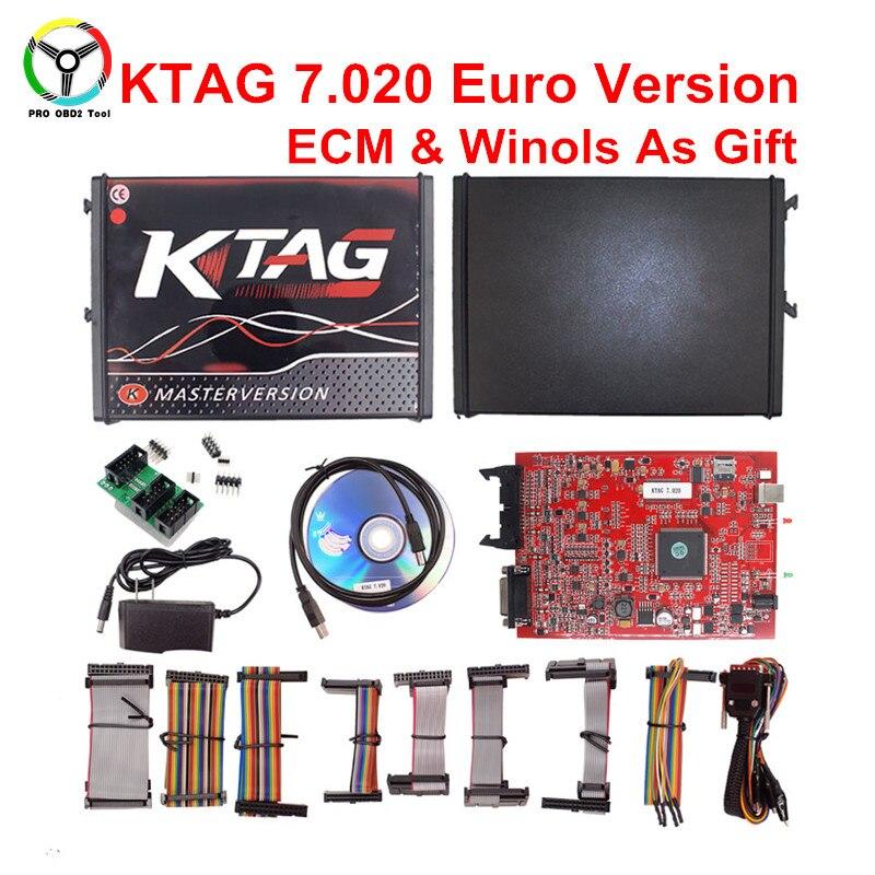 2018 No Token KTAG 7.020 V2.23 Ha Aggiunto Più di 140 Protocolli KESS 5.017 SW2.23 ECU Programmatore KESS V2 V5.017 Versione On-Line
