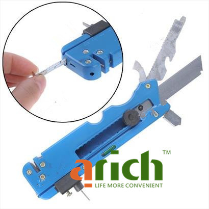 Multifunction Blue Oil Feeding Carbon Tipped Glass Cutter Knife Cutting Tool