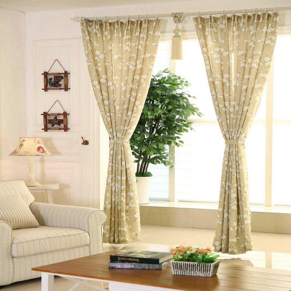 ventana de cortinas para la cocina sala de estar dormitorio de lujo floral flores de