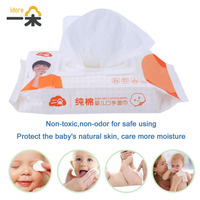 Idore Draagbare Baby Nat Papier Deksel Doekjes Cover Tissue Zak katoen Zachte Wegwerp Tissue Voor Travel Baby Huid Schoon Baby Care