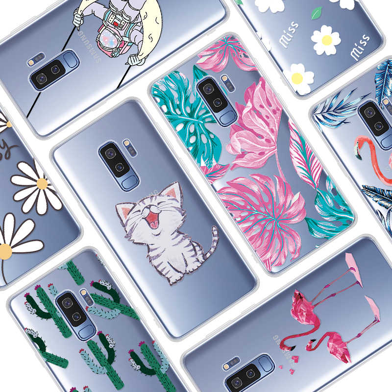 Silicone Thin TPU Case For Samsung Galaxy A70 A50 A40 A30 A20 A10 A60 A40S S9 Plus Clear Cartoon Case For Samsung Galaxy A20E