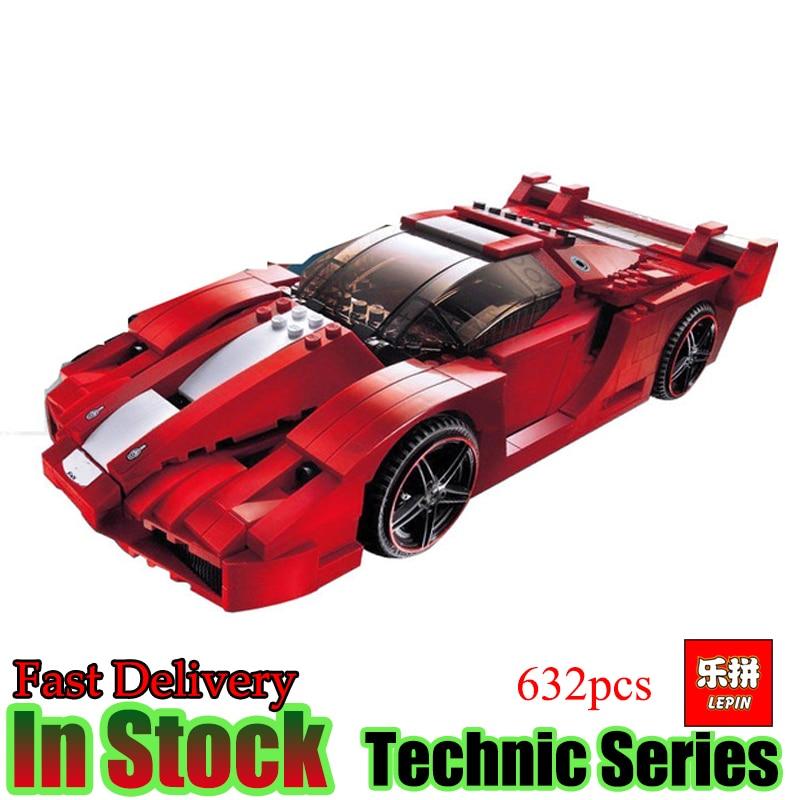 Lepin 21009 Technic 632pcs The Out of Print FXX 1:17 Racing Car F1 Car Set Model Building Blocks Bricks Kids Toys hot racing italy horse logo fxx k