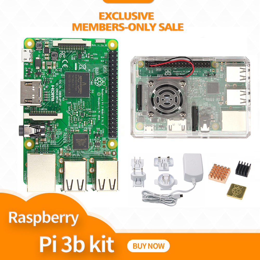 Raspberry pi 3 case with fan Power Adapter with Aus Euro UK US plug heat