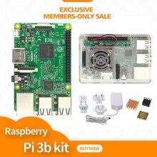 Raspberry pi 3/boîtier avec ventilateur/adaptateur dalimentation (avec prise Aus, Euro, royaume uni, états unis)/dissipateur de chaleur
