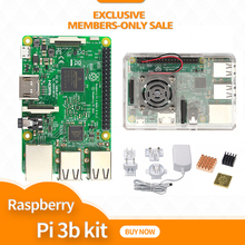 Raspberry pi 3 / case with fan / Power Adapter ( with Aus,Euro,UK,US plug )  /  heat sink