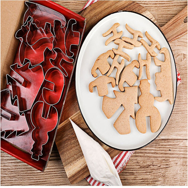 Stainless Steel 3D Christmas Cookie Molds Set