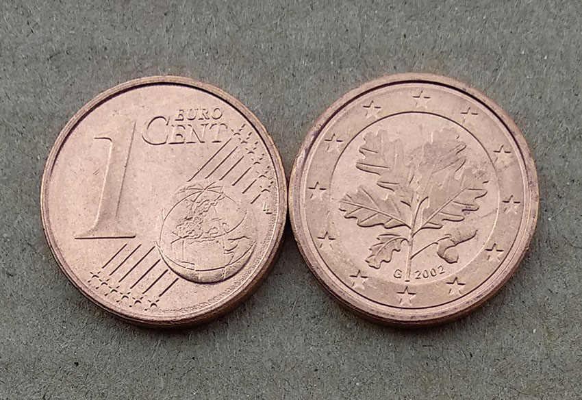 16mm 1 Cent Moeda Da Alemanha 2002, 100% Real Genuíno Comemorativo Da Moeda, Coleção Original