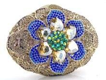 Classic Gold Crystal Luxury Clutch Bag Diamond Ladies Clutch Purse Party Wedding Evening Bag 88169
