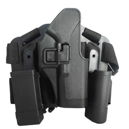 Accesorios de Caza de Combate táctico Pistola Glock Pistolera Funda de CQC muslo