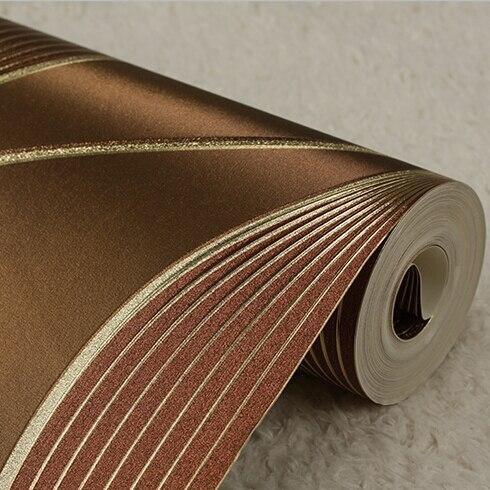 Style italien luxe or abstrait rayé papier peint élégant salon chambre fond papier peint 3D Mural papier peint rouleau