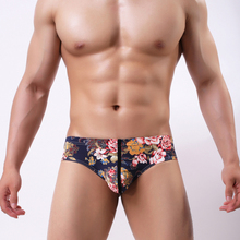 2018 Men Briefs Men Underwear Briefs Printed Color Soft Underpants Nylon Sexy Underwear Men Briefs Calzoncillos hombre ckyh06