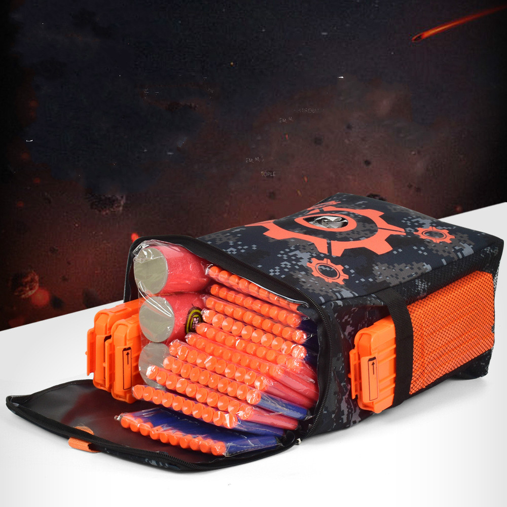 Oxford Cloth Target Pattern Shooting Practice Bag Soft Bullet Bag For Nerf Camouflage Parts For Nerf Toy Gun Game Target Bag