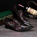 2017 New Arrival Men's Fashion Bling Bling Shoes for Men Evening Clubwear Party Shoes Brand Designer Oxfords Plus Size 38-46