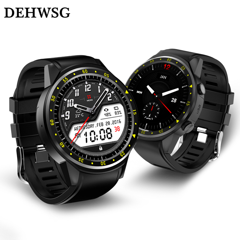 DEHWSG GPS Smart watch F1 with Camera Heart Rate monitor Sim TF Card smartwatch Multi-Sports model watch For Android IOS Phone smartch s958 smart watch sport waterproof heart rate monitor gps 2g sim card calling all compatible smartwatch for android ios c