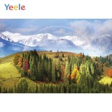 Yeele Landscape Snow Mount Rainbow Pines Room Decor Photography Backdrops Personalized Photographic Backgrounds For Photo Studio