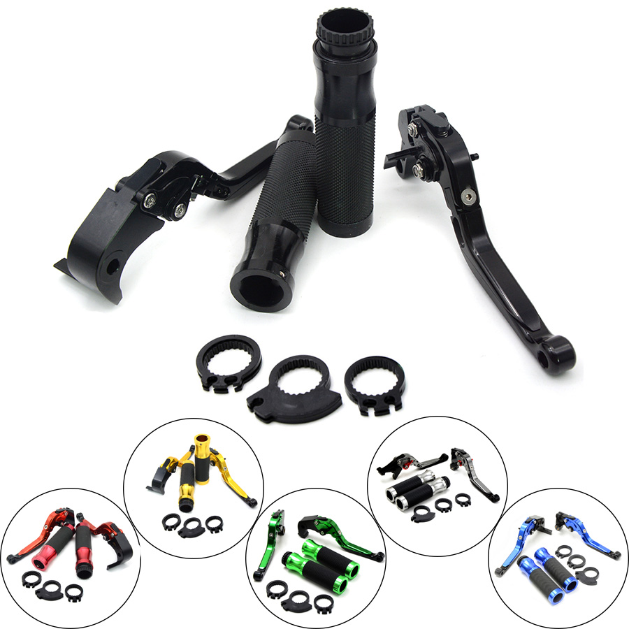 Motorcycle Brakes Clutch Levers Adjustable Folding Extendable & handlebar handle bar For KAWASAKI NINJA 250R 08 - 12 Z125 15 16 for kawasaki z750 2007 2017 motorcycle brakes clutch levers