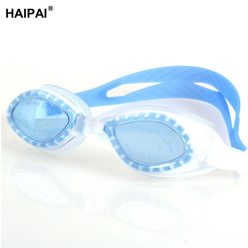 Haipai boys girls Professional swimming goggles Waterproof Anti-UV anti-fog protective glasses for the pool childrens glasses