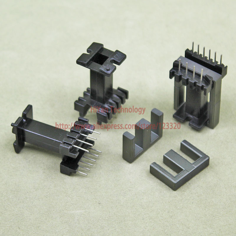 5sets/lot EE19 PC40 Ferrite Magnetic Core and 6 Pins + 4 Pins Top Entry Plastic Bobbin Customize Voltage Transformer 20sets lot ee16 pc40 ferrite magnetic core and 5 pins 5 pins side entry plastic bobbin customize voltage transformer