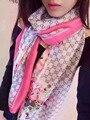 102348 17 Colors175x65cm 2016 женская Мода Шелковые Платки Шарф Шарф Дамы Шелковый шарф Прямоугольник Шарф Чистого шелка шарф