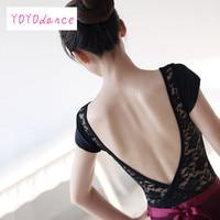 נשים בלט הדוק תחפושת ללא משענת תלבש ריקוד נשי בגד גוף תחרה בגדי בגד גוף השחור הסגול בורגונדי Dk הכחול 3205
