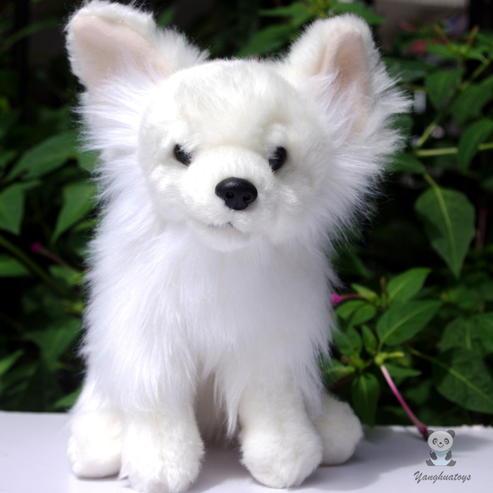 Cute Stuffed Animal Toy Pomeranian Doll Christmas Gifts Soft Toys White Dogs Dolls