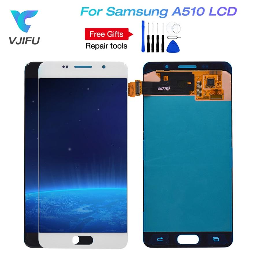 A510 LCD Für Samsung Galaxy A5 A510 A510F A510M A510Y A510FU LCD Display Digitizer Touchscreen Für A5 2016 Display ersatz