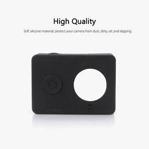 Image 2 - Vamson para xiaomi para yi acessórios à prova de poeira silicone caso protetor + tampa da lente para xiaomi para yi esporte ação câmera vp620
