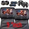 """9 """"pulgadas de Coches reposacabezas Monitor de almohada Reproductor de DVD TFT Digital de Pantalla Reposacabezas Reproductor de DVD FM USB Con El Disco Del Juego + Auriculares INFRARROJOS"""