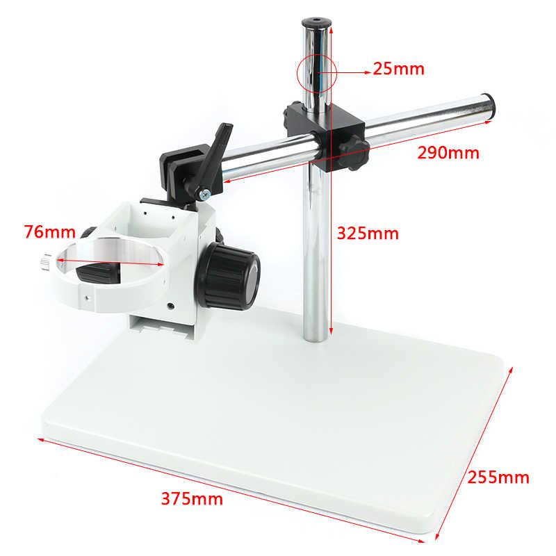 Тринокулярный микроскоп Большой размер регулируемый стрелы стол Рабочая подставка держатель + 76 мм кольцо держатель + многоосевая Регулируемая металлическая ручка