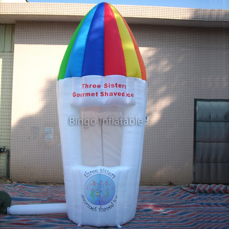 Free Delivery Kiosk design inflatable ice cream booth toy tent ...