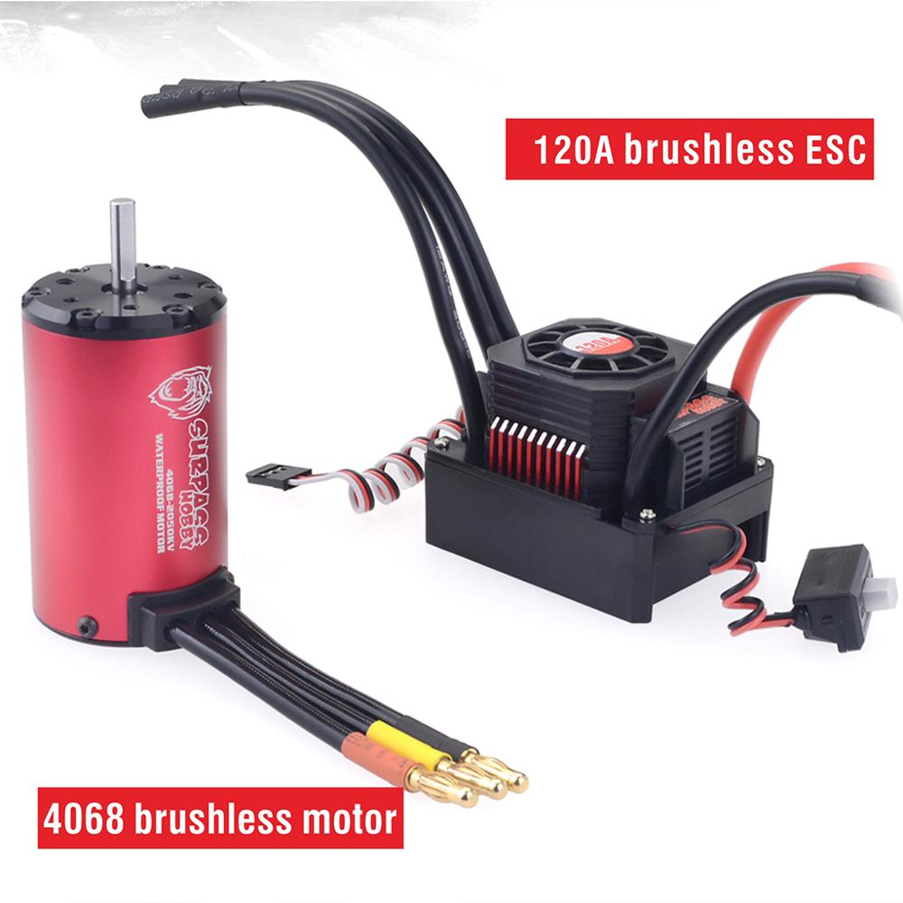 Image 2 - SURPASSHOBBY KK Waterproof Combo 4068 2050KV 2650KV Brushless Motor w/120A ESC for 1/8 RC Drift Racing Car-in Parts & Accessories from Toys & Hobbies